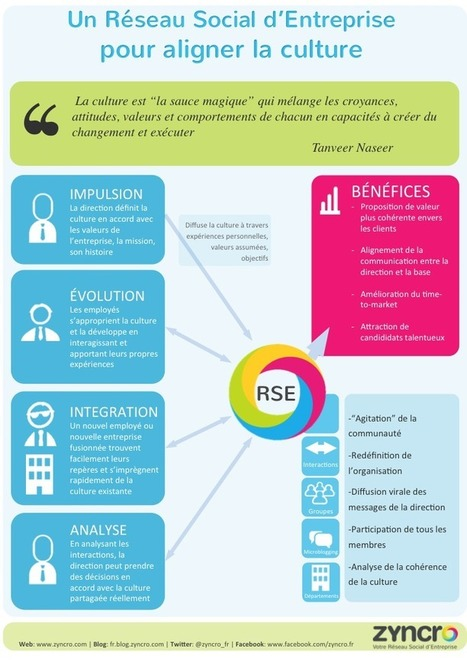 Infographie: Un Réseau Social d'Entreprise pour aligner la culture d'entreprise | TPE-PME | Scoop.it