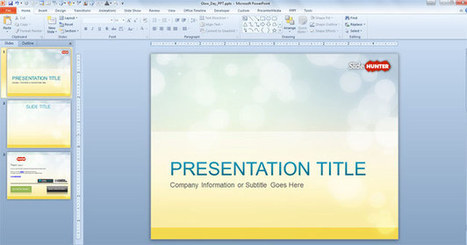 Free Glow PowerPoint Templates | Integrated Digital Marketing | Scoop.it