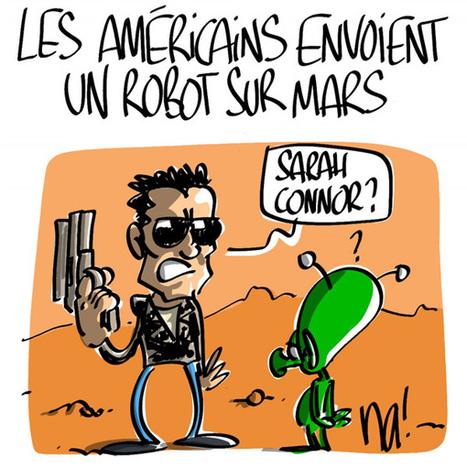 Les Américains envoient un robot sur Mars | Baie d'humour | Scoop.it