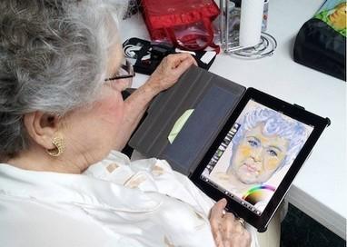 Grandma plus iPad equals artistic expression | Digital Literacies | Scoop.it