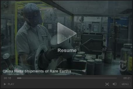 NYTimes Video: China Halts Shipments of Rare Earths | Geographic and Sustainability Literacy | Scoop.it