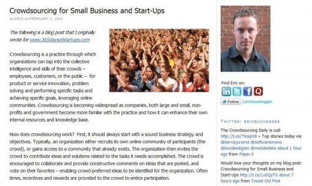 Crowdsourcing for Small Business and Start-Ups | The Jazz of Innovation | Scoop.it