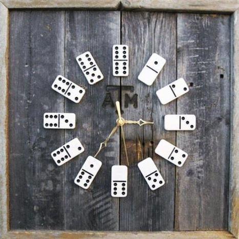 Dominoes clock   DIY & Crafts   Scoop.it