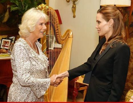 """Camilla Parker Bowles and Angelina Jolie -- Meeting of Ex Side Pieces ... Who Wins? 