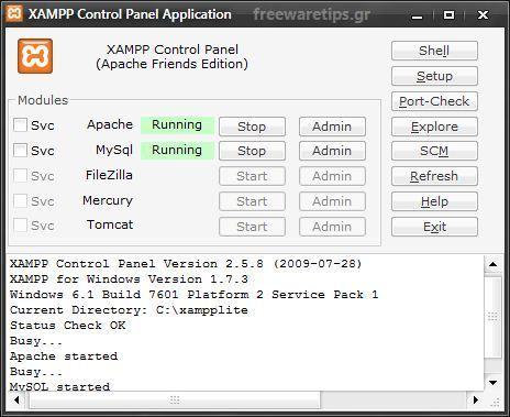 XAMPP - Πλήρες πακέτο Web Server | Freeware Tips | Scoop.it