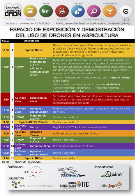 Espacio de Exposición y Demostración del uso de drones en la Agricultura   Agroexpo   Scoop.it