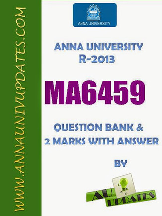 MA6459 Numerical Methods Nm Lecture Notes and Question Bank - 2 mark with answers ~ Anna University Nov Dec 2014 Results- Auupdates | Anna UNiversity Updates | Scoop.it