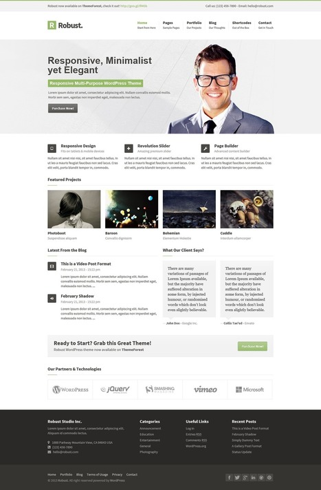 Robust – Responsive Multi-Purpose WordPress Theme Download   Royal Fashion   Scoop.it