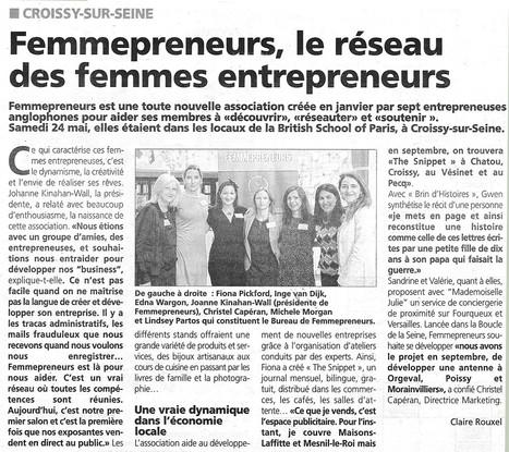 Le réseau des Femmepreneurs | Croissy sur Seine | Scoop.it