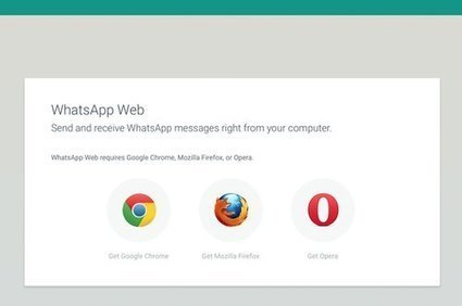 WhatsApp Web fonctionne désormais sur Firefox et Opera - Clubic | netnavig | Scoop.it