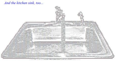 The Kitchen Sink   ASCII Art   Scoop.it