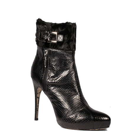 Cesare Paciotti Womens Shoes Black High-Heel Exotic Python / Pony Short Boots | Designer Womens Shoes | Scoop.it