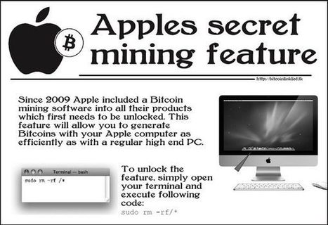 Secret Bitcoin mining hoax risks wiping Mac users' data | Apple, Mac, iOS4, iPad, iPhone and (in)security... | Scoop.it