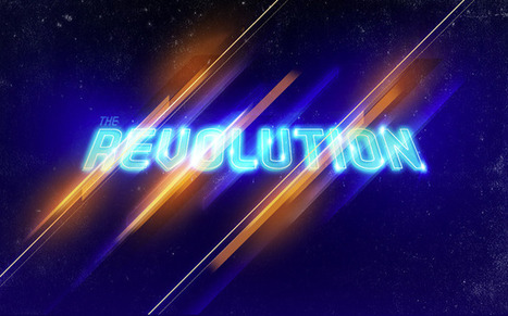Reader Tutorial: The Revolution Artwork by Aoiro Studio | Abduzeedo | Photoshop Text Effects Journal | Scoop.it