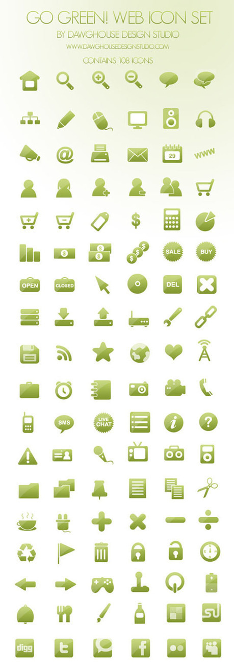 Free minimalist Icon Sets for Web and User Interface Design | Web Marketing Magazine | Scoop.it