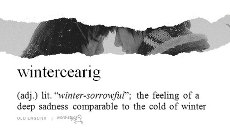 "Words we like : ""winter-sorrowful"" 
