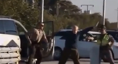 Elderly man with his hands up tasered by Florida Highway Patrol officer (VIDEO)   Upsetment   Scoop.it
