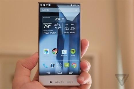 Aquos Crystal, de nouveaux smartphones presque sans bordure | social tv | Scoop.it