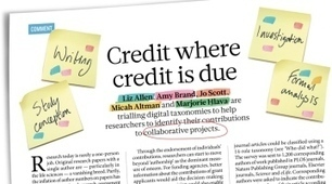 Publishing: Credit where credit is due | The Praxis of Research | Scoop.it