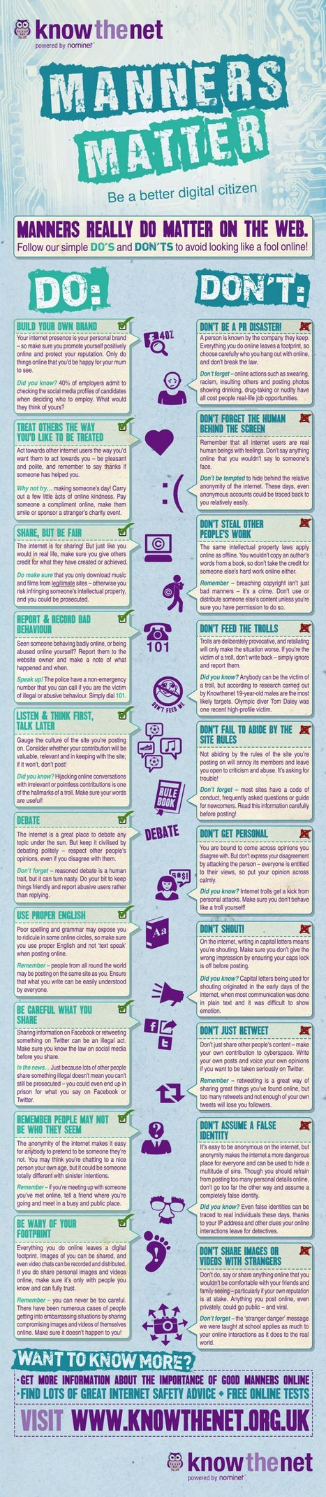 Manners Matter Netiquette [Infographic] | Social media enabling connected learning | Scoop.it