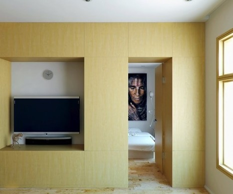 Small Apartment with Foldaway Features | Small Spaces | Scoop.it