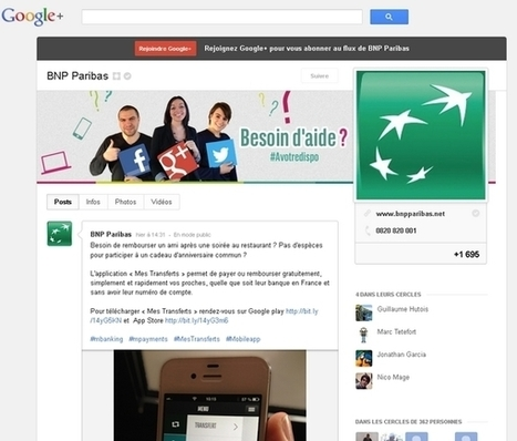 BNP Paribas ouvre son SAV sur Google+ | Personal Branding and Professional networks - @Socialfave @TheMisterFavor @TOOLS_BOX_DEV @TOOLS_BOX_EUR @P_TREBAUL @DNAMktg @DNADatas @BRETAGNE_CHARME @TOOLS_BOX_IND @TOOLS_BOX_ITA @TOOLS_BOX_UK @TOOLS_BOX_ESP @TOOLS_BOX_GER @TOOLS_BOX_DEV @TOOLS_BOX_BRA | Scoop.it