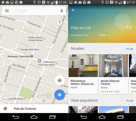 Google Maps 9.0 : tous les changements en images - FrAndroid | Cartographie XY | Scoop.it
