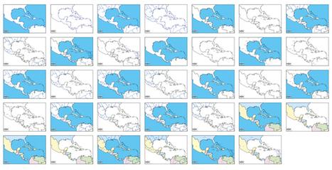 Mapas de América Central y Sudamérica vectoriales gratuitos | Cartografía | Scoop.it