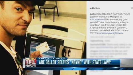 Justin Timberlake's Ballot Selfie Highlights Mixed Laws | Savvy Cyber Citizens: FCPS Digital Citizenship Resources | Scoop.it