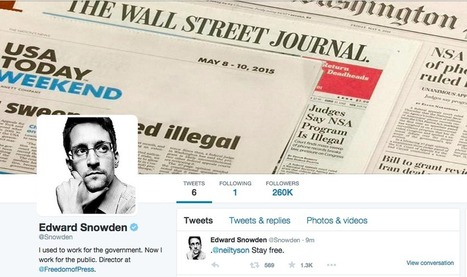 Edward Snowden joins Twitter and immediately throws shade at the NSA   Nerd Vittles Daily Dump   Scoop.it