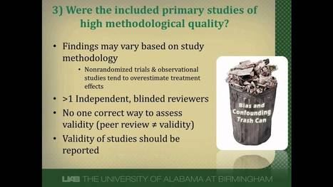 How to Critically Appraise a Systematic Review: Part 2   Writing a Literature Review   Scoop.it