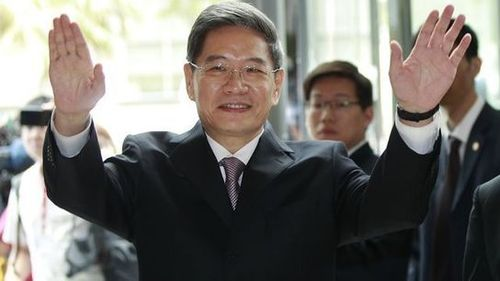 Communist China sends government minister to Nationalist China, Taiwan for first time since the Communist Overthrow