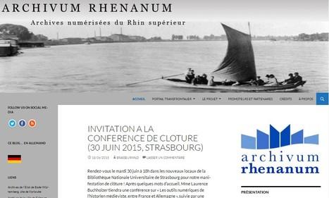 Archivum Rhenanum | Archives numérisées du Rhin supérieur | Nos Racines | Scoop.it