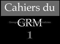 Cahiers du GRM 1 | Penser (dans) la conjoncture - Volume complet en ligne | Philosophie en France | Scoop.it