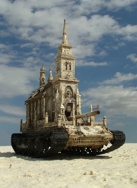 Meticulously Detailed Sculptures of Churches as Tanks - My Modern Metropolis | John | Scoop.it