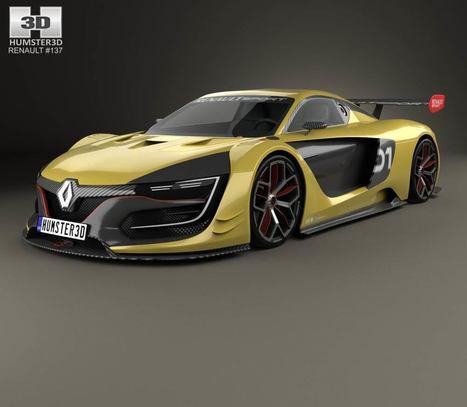 3D model of Renault Sport R.S. 01 2015   3D models   Scoop.it