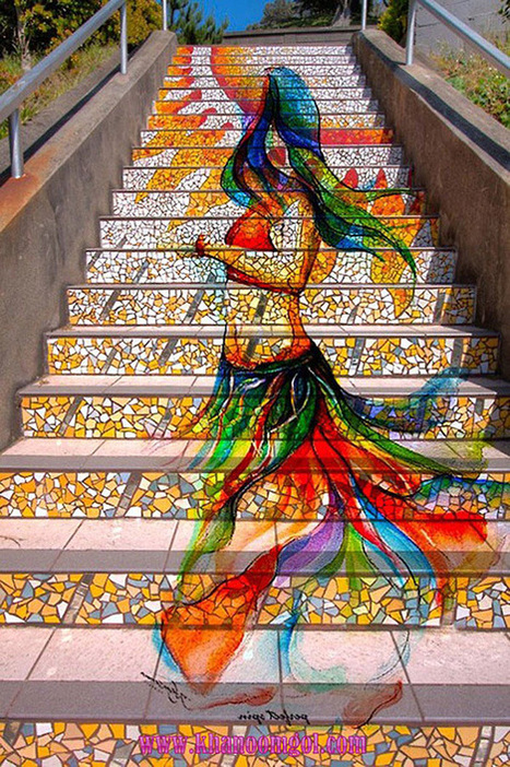 Brilliant Collection of Painted Steps Street Art | The Design Inspiration | xposing world of Photography & Design | Scoop.it