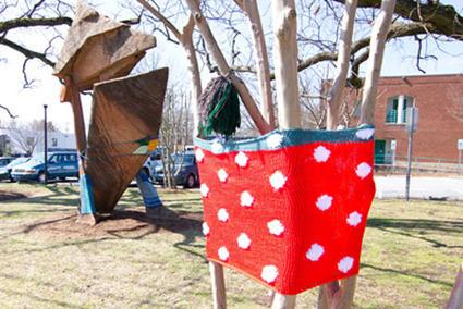 Yarn bombing hits Carrboro - The Carrboro Citizen | Fiber Arts | Scoop.it