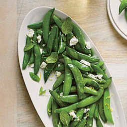 Sautéed Snap Peas with Ricotta Salata and Mint | MyRecipes.com | Truly Healthy Recipes | Scoop.it