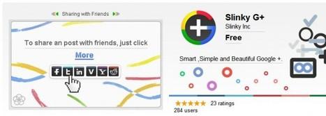 Mejora la experiencia de Google Plus con Slinky G+ | Google+, Pinterest, Facebook, Twitter y mas ;) | Scoop.it