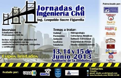 "III Jornadas de Ingenieria Civil ""Leopoldo Sucr... | Links Libros Civil | Scoop.it"