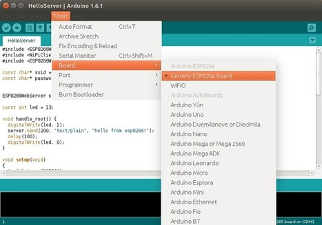 ESP8266 Wi-Fi Module is Now Supported in Arduino IDE | Embedded Systems News | Scoop.it
