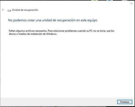 Windows 10: Crear una unidad de recuperacion | SOM | Scoop.it