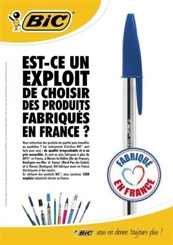"""Bic mise sur le """"made in France""""   Communication, socialmedia & médias   Scoop.it"""