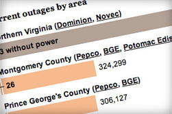 Power outages in Washington region - The Washington Post | Emergency Info for 'Snowquester' | Scoop.it