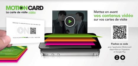 Nouveau : Motioncard, la carte de visite vidéo par Exaprint   QRiousCODE   Scoop.it