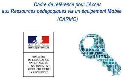 CARMO : Cadre de référence pour l'Accès aux Ressources pédagogiques via un équipement Mobile | Numérique & pédagogie | Scoop.it