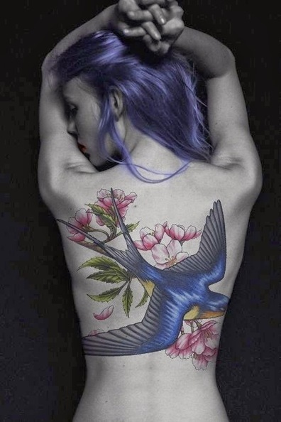 Blue Bird great coloring Tattoos for female | Female tattoo | Scoop.it