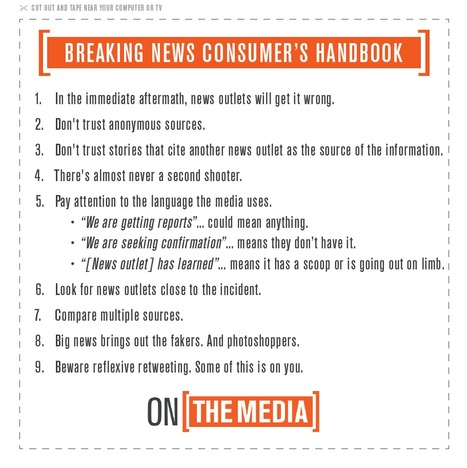 On The Media - The Breaking News Consumer's Handbook | DidYouCheckFirst | Scoop.it