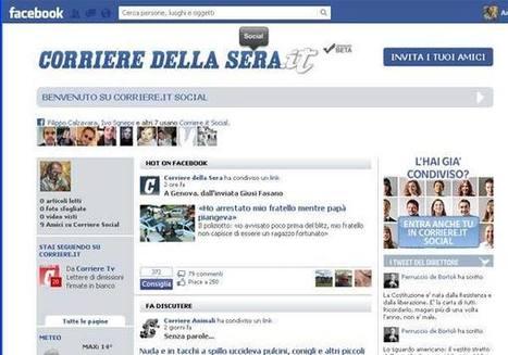 Corriere della Sera e Facebook  <br/>lanciano in Italia il «social reader» | SOCIAL READING, BREAKING NEWS e EBOOK EDUCATIONAL | Scoop.it